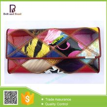 2015 The Newest lasest design eel skin leather lady long wallet