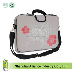 17 inch Neoprene Laptop Sleeve notebook Bag with Soft Carrying Handle & Removable Shoulder Strap
