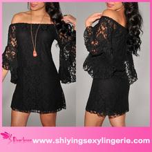 vestidos para la venta de encaje negro mujeres mini vestido