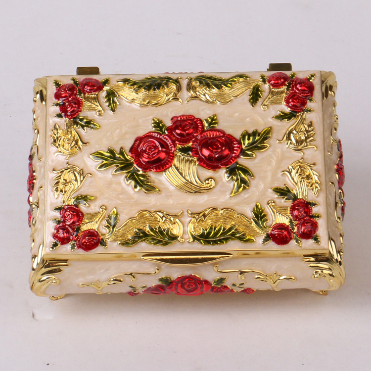 Decoration For Wedding Gift : Wedding Decoration Antique Metal Gift Box For Jewelry - Buy Gift Box ...