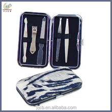 Professional delicate manicure set in case