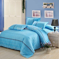 Free shipping! 4 pcs Bedding set with Blue color, include quilt cover bed sheet pillowcase, high quality!