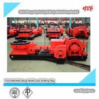 TSJ1500/660 skid mounted drilling rig,engineering drilling machine