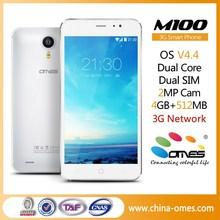 """2015 New Fashion OEM M100 5"""" 3G WCDMA chinese dual sim card mini smart phone"""