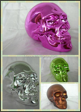 ceramic electroplate red skull head