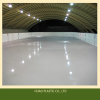 Anti-abrasion hdpe plastic roller skating rink,ice skating rinks boards
