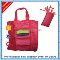 recycled non woven custom folding shopping tote bag folding bag
