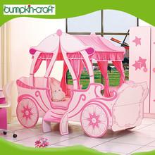 Hot sale cheap classic cartoon kids princess bed