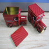 Delicate china anhui hefei car/bus/truck train shaped tin box wholesale