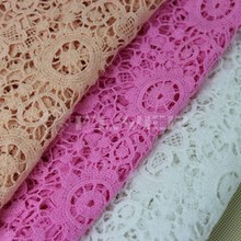 Fashion selection cotton guipure lace fabric, lace embroidery design for woman S007