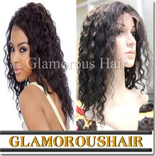 Highlight color deep wave full lace indian human hair wigs for black women