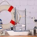 2015 accesorios para el hogar mediterráneo artesanías de madera de madera velero velero creativa del equipamiento casero C5301