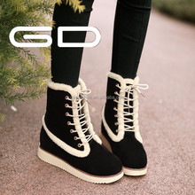 Best selling winner safety warm snow boots ladies cute color boots 2015