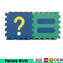Melors espuma eva piso estera del juego para bebés multicolor eva foam mat para kindergarten uso