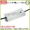 Meanwell HLG-60H-C700 70w constant current led driver 700ma