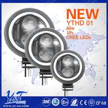 Newest high low beam Round 40w 7inch intelligent Control led headlight for jeep with drl light