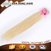 Wholesale factory direct european hair wholesale,blonde straight hair extension,613 color weave human hair