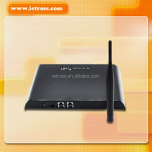 gsm to landline converter with 1 sim slot and 2 rj-11 port for pbx voice call
