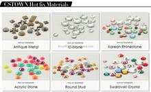 Lt.topaz fleur de lis Low lead rhinestone hotfix motif iron on rhinestone transfer designs