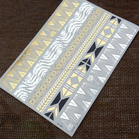 Bling Shiny Flash Metallic Gold and Silver Foil Temporary Tattoo
