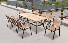 10 seater outdoor wood dining table set