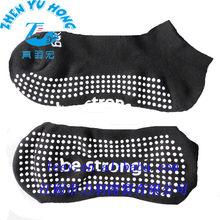 Customized Logo PVC Grip Socks, Men Yoga Sock, High Quality Ankle Trampoline Socks