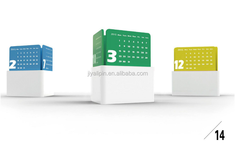 Unique Table Calendar Design : Creative desk calendar designs buy custom made