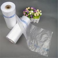 Food Grade HDPE Plastic Flat Roll Food Bags on Roll