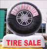 Factory outlet good quality inflatable tire advertising for sale