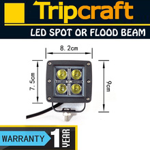 """Promotion 3"""" Square 16W DRIVING LED WORK LIGHT 10-30V DC IP67 Led Work Light save energy for heavy duty Working Lights"""