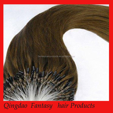 New fashionable Fantasy high quality unprocessed ombre micro loop ring hair extension