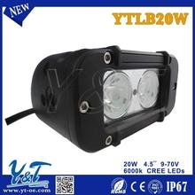 "NEW 4.6"" 12V / 24V 1800LM 20W Waterproof LED Car Work Light Bar for Truck / Trailer / 4x4 / 4WD / SUV / ATV / OffRoad / Car"