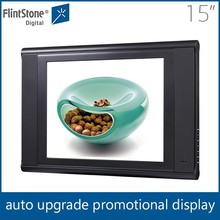 flintstone 15 inch plastic casing led screen tvs with scrolling text and paly log function