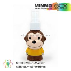 monkey animal cartoon cute children brown wholesale lens spray / lens cleaner, anti-fog spray, cleaning liquid