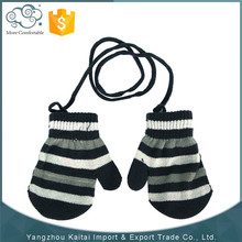 Ladies acrylic wholesale knitted hand gloves