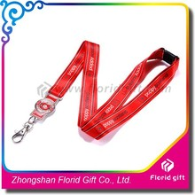 Dye sublimation printing lanyard badge connect on the bottom