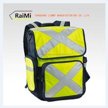 Custom design different size high safety reflective sport backpack bag