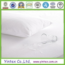 Terry towelling with PU covered fabric waterproof mattress protector