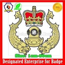 metal gold crown coat of arms/ royal arms / an army emblem (HH-emblem-045)
