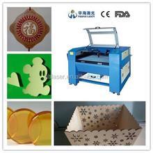 Huahai laser CO2 laser sticker cutting printing machine