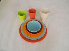 bamboo fiber kitchenware/biodegradable bamboo fiber dinnerware sets