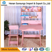 Children furniture attached table and chair sets