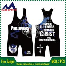 Sublimated Wrestling Singlet/warm up suits/Wrestling wear