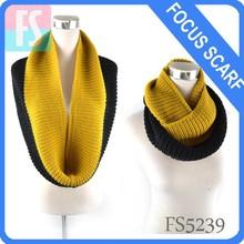 Infinito bufanda de punto, ronda de punto bufanda de cuello