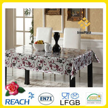 PVC double side embossed organza overlay tablecloth roll