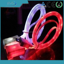 multi color lighting USB data cable for mobile phone