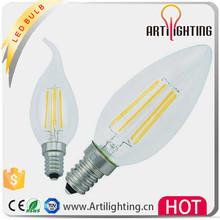 2015 China ce rohs unique designed led source ac/dc 12v 24v 36v c35 3w led filament candle bulb