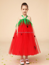 Fashion printed ruffle baby girl party dress children frocks designs