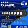 Y&T Factory High-Performance 10-30V 80W Single Row LED Light Bars for off Road Trucks UTV 4wd 4x4