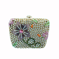 Italian full crystal and rhinestone evening clutcu bags party bags for lady